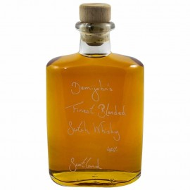 Hipflask of Demijohn's Finest Blended Scotch Whisky