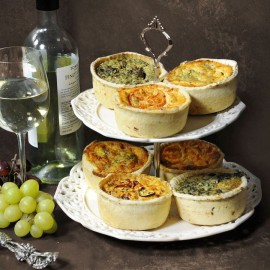 Pick & Mix Handcrafted Individual Quiches Selection