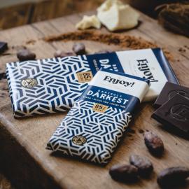 Dark 85% Raw Organic Chocolate Bars (4 pack)