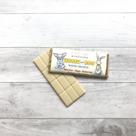 Trio of Hooey and Boo Dairy Free Childrens Chocolate Bars - White Orange
