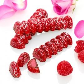 Raspberry and rose cream bar