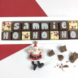 Personalised HO HO HO Christmas Chocolate Gift