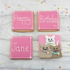 Happy Birthday Cat Lover Cookie Gift Set