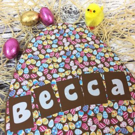 Large Milk Chocolate Egg with Easter Egg Design