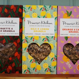 Organic Granola Trio Pack - Orange, Lemon & Courgette