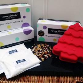 Christmas Tree Ice Cream Cake Kit