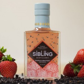 Sibling Summer Edition Gin - Strawberry & Black Pepper Gin Infusion