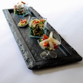 Slate Effect Rectangular Serving Platter