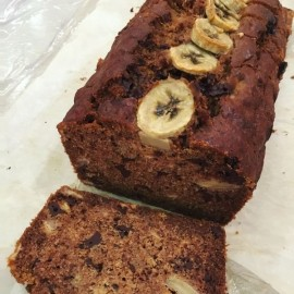Buckwheat, Banana & Chocolate Chip Loaf (Vegan, Gluten Free, Refined Sugar Free)