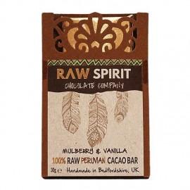 Mulberries & Vanilla 100% Dark Raw Peruvian Cacao Bars