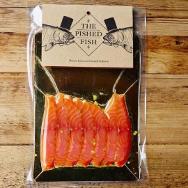 Dark Spiced Rum & Botanicals Infused Smoked Salmon