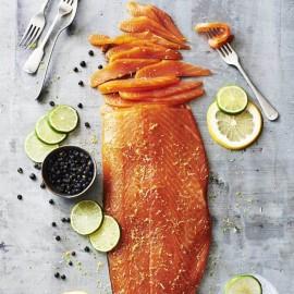 Gin & Tonic Infused Smoked Salmon