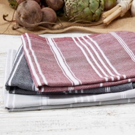 Large Tea Towel / Hand Towel - Butcher's Black