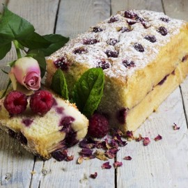 Raspberry and Rosewater Loaf Cake (Gluten & Dairy Free)