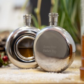 window hip flask with engraving