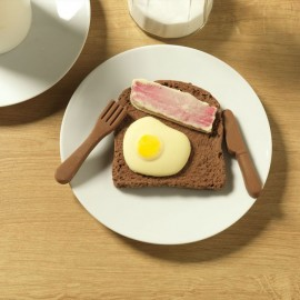 Chocolate Egg And Bacon On Toast