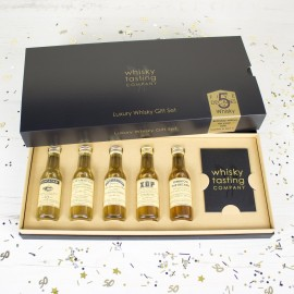 Fives Decades Of Whisky Gift Set (Personalisation Available)