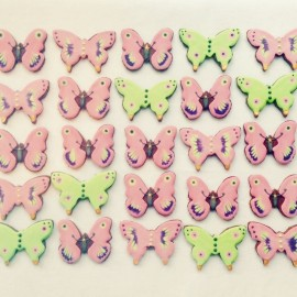 Butterfly Iced Biscuits for Events