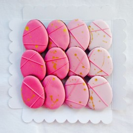 Ombre Geometric Easter Egg Biscuits