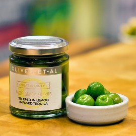 Neat & Dirty Olives steeped in Lemon Tequila