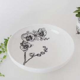 Fine Bone China Pasta Bowl - Floral Decadence