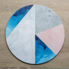 Set of 4 Contemporary Round Geometric Placemats