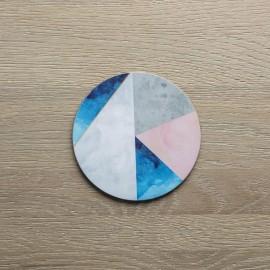 Set of 4 Contemporary Round Geometric Coasters