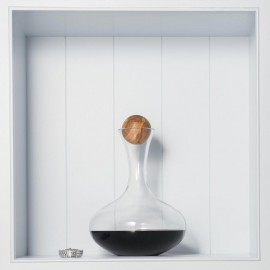 Red Wine Carafe With Oak Stopper & Cleaning Kit