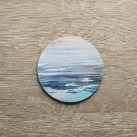 Set of 4 Round Contemporary Calm Coasters