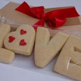 Valentines 'Love' Shortbread
