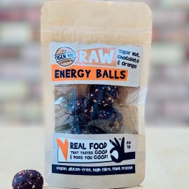 Raw Energy Balls - Tiger Nut, Chocolate & Orange with Maca, 3 pack