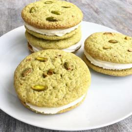 Matcha Cookie Sandwiches (Vegan) - Box of 4