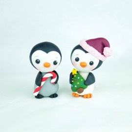 Gluten Free Edible Penguin Cake Toppers - Cute Christmas Cupcake Decorations