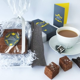 Double Chocolate Marshmallows Gift Box with Tea