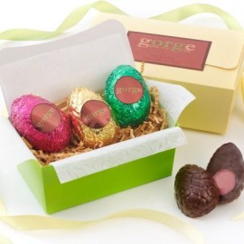 Raw Organic 'Free From' Easter Egg Gift Box - 3 x 65g Solid Eggs