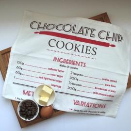 Chocolate Chip Cookie Recipe Tea Towel