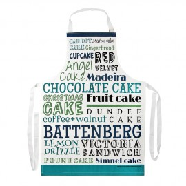 Green Blue Cake Typography Apron