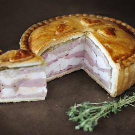 Chicken & Ham Pork Pie