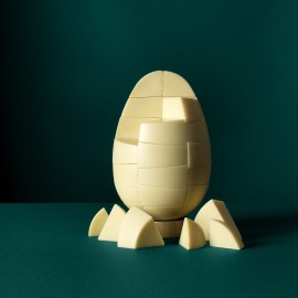 Solid white Belgian chocolate egg