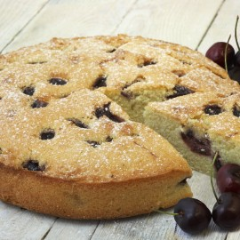 Cherry and Almond Cake (Gluten & Dairy Free)