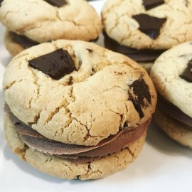 Chocolate Cream Cookie Sandwiches (Vegan)