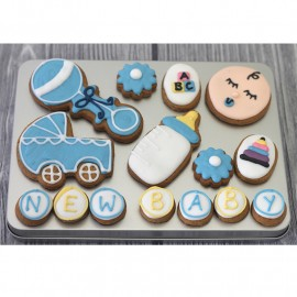 Baby Boy Biscuit Gift Tin (Box of 15)