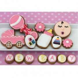 Baby Girl Biscuit Gift Tin