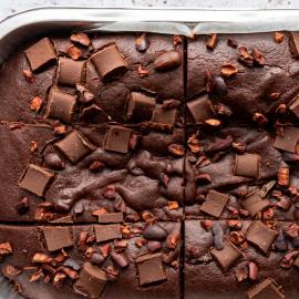 Classic Fudge Brownies | Vegan, Gluten & Refined Sugar Free