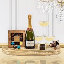 Luxury Bollinger Champagne Christmas Gift Box