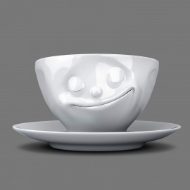 Espresso Cup, Happy design, with saucer