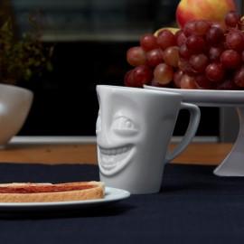 White Porcelain 'Joker' Mug on counter top