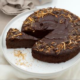 Chocolate orange brownie cake