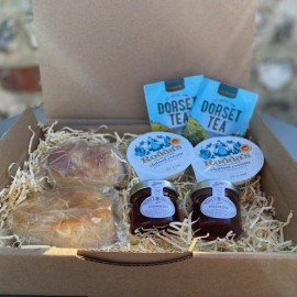 English Cream Tea For Two Gift Hamper with Dorset Tea