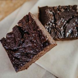 Salted Caramel Vegan Brownies